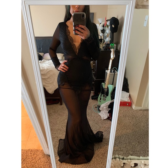 Fashion Nova Dresses & Skirts - Black Sheer Maxi